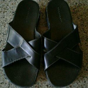 Rockport leather slide sandal